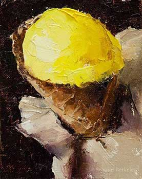 Mango Agave Sorbet, oil on canvas